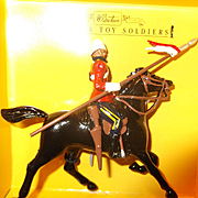 Britains 8819 16th Queens Lancer Figure Metal Toy Soldiers W Britains Mint in Box.