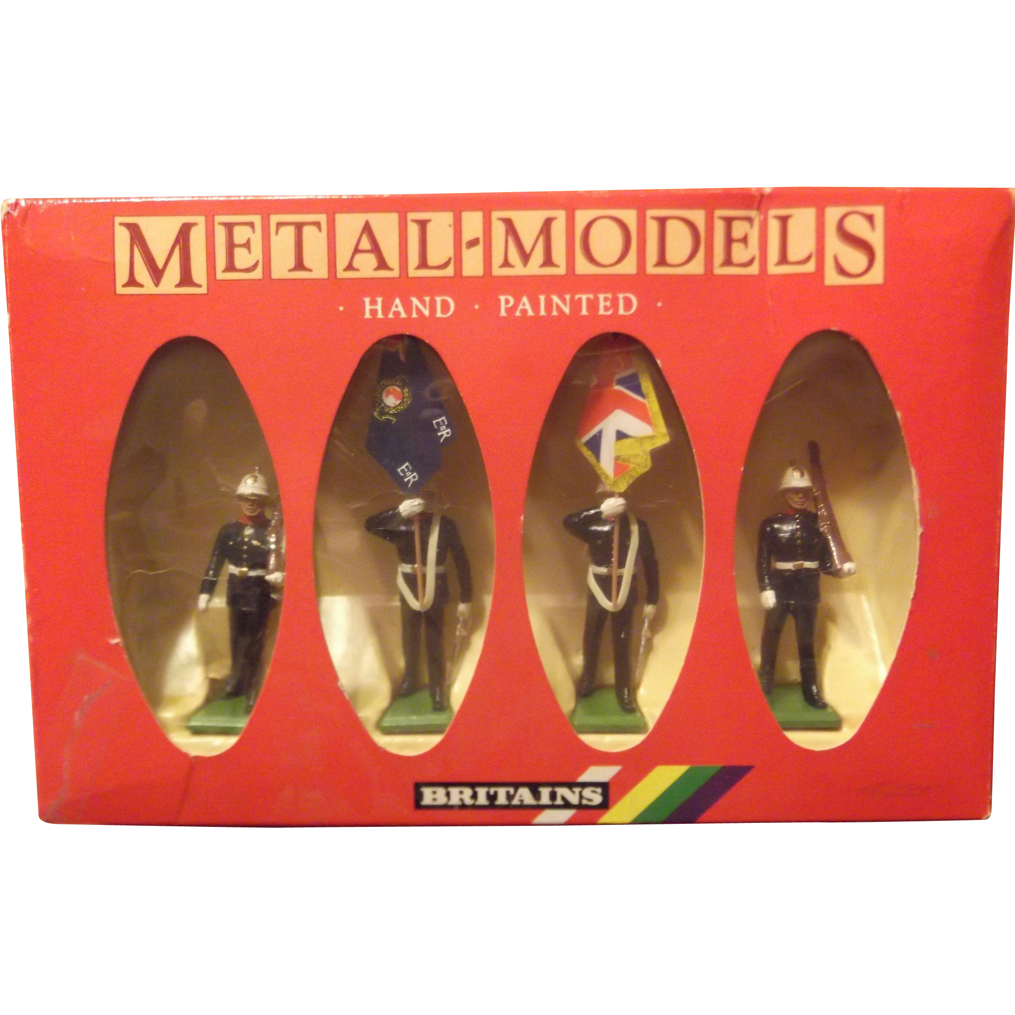 Britains Metal figures-Royal Marine figures. #7201