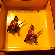 Britains toy soldiers-Sherwood Foresters Firing Figures 5 box set