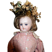 """13"""" German bisque closed mouth German Fashion doll with trunk and clothes"""