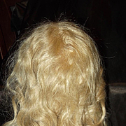 Long Hand tied Ash Blond Jumeau Wig