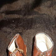Antique German Doll shoes, Signed