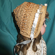 Rare Antique French Bebe hat
