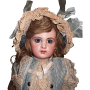 Petite Beautiful French Bisque Bebe  E.J. BY JUMEAU,SIZE 3