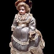Antique French Bisque FG Fashion doll w/ Beautiful Dress