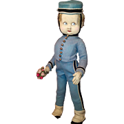 "Rare Italian Felt ""Bellhop Googly"" By Lenci, Model 563 from 1928 Catalog. Your Valentine Boy is waiting!"