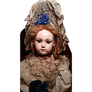 Breath Taking French Bisque Bebe Triste by Jumeau Size 14