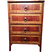 French Mahogany Tall Chest From French Museum