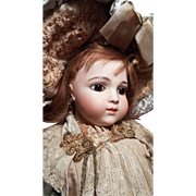 Beautiful French Bisque Bebe Bru Brevete, Wonderful Antique Costume!