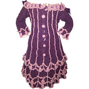 Beautiful Handmade Bebe Dress for Jumeau, Steiner, Bru