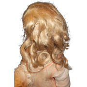 Curly Hand tied Ash Blond Genuine Jumeau Wig