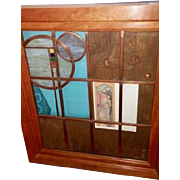 Leaded Glass panel and Light Fixture made by George Grant Elmslie, from Baab-Summy estate with provenance from Baab