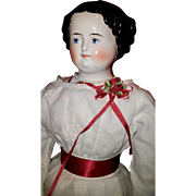 "24"" China Head Doll, With marked body and Beautiful Clothing"