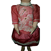 Original French Pretty Pink Dress for Petite Bru, Jumeau Steiner