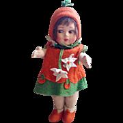 """Super Rare antique Italian """"Orange Girl"""""""
