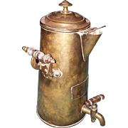 Antique bronze tea pot or carafe
