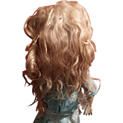 Full Blonde Antique Mohair Wig for your Jumeau Steiner Bru