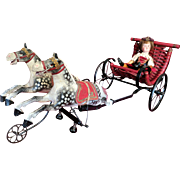 Charming French Mechanical Surrey and Liposon Horses