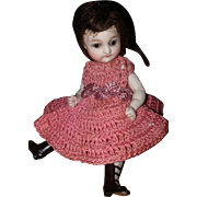 German all bisque doll by Kestner with Fancy Ankle Boots and Trousseau