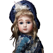 French Bisque Bebe Steiner A ~ This Girl has the Look! Incredible eyes and face! With Her antique Trousseau