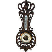 Black Forest Barometer in Art Nouveau Style