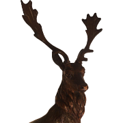 Black Forest Fallow Deer Stag Figure
