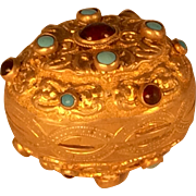 Gilt Brass Austro-Hungarian Egg Shaped Casket