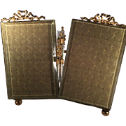 Double French Brass Frame with Posy Holder