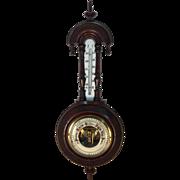 English Mahogany Aneroid Pendant Barometer