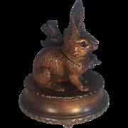 Black Forest Rabbit Inkwell Music Box