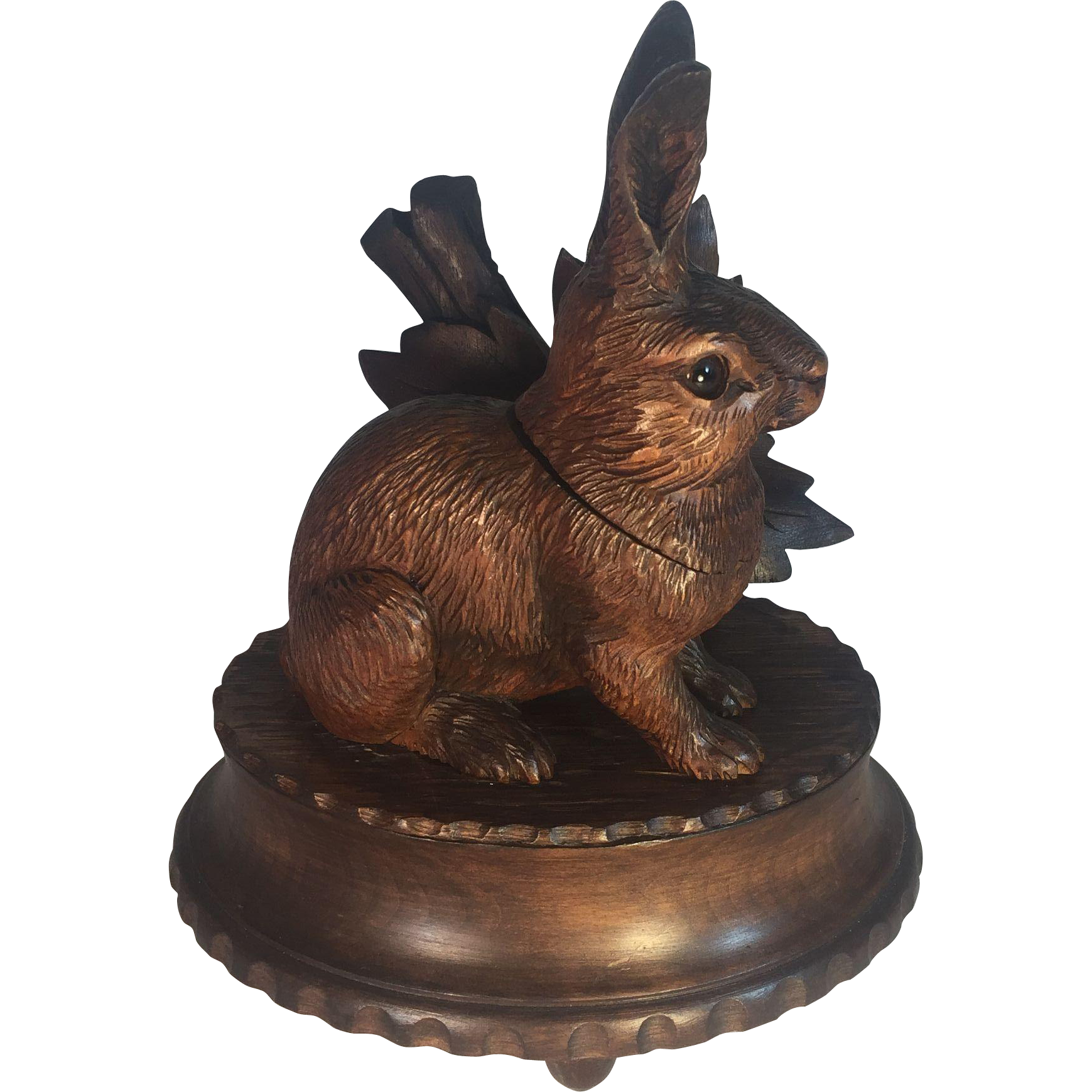 Black Forest Rabbit Inkwell Music Box