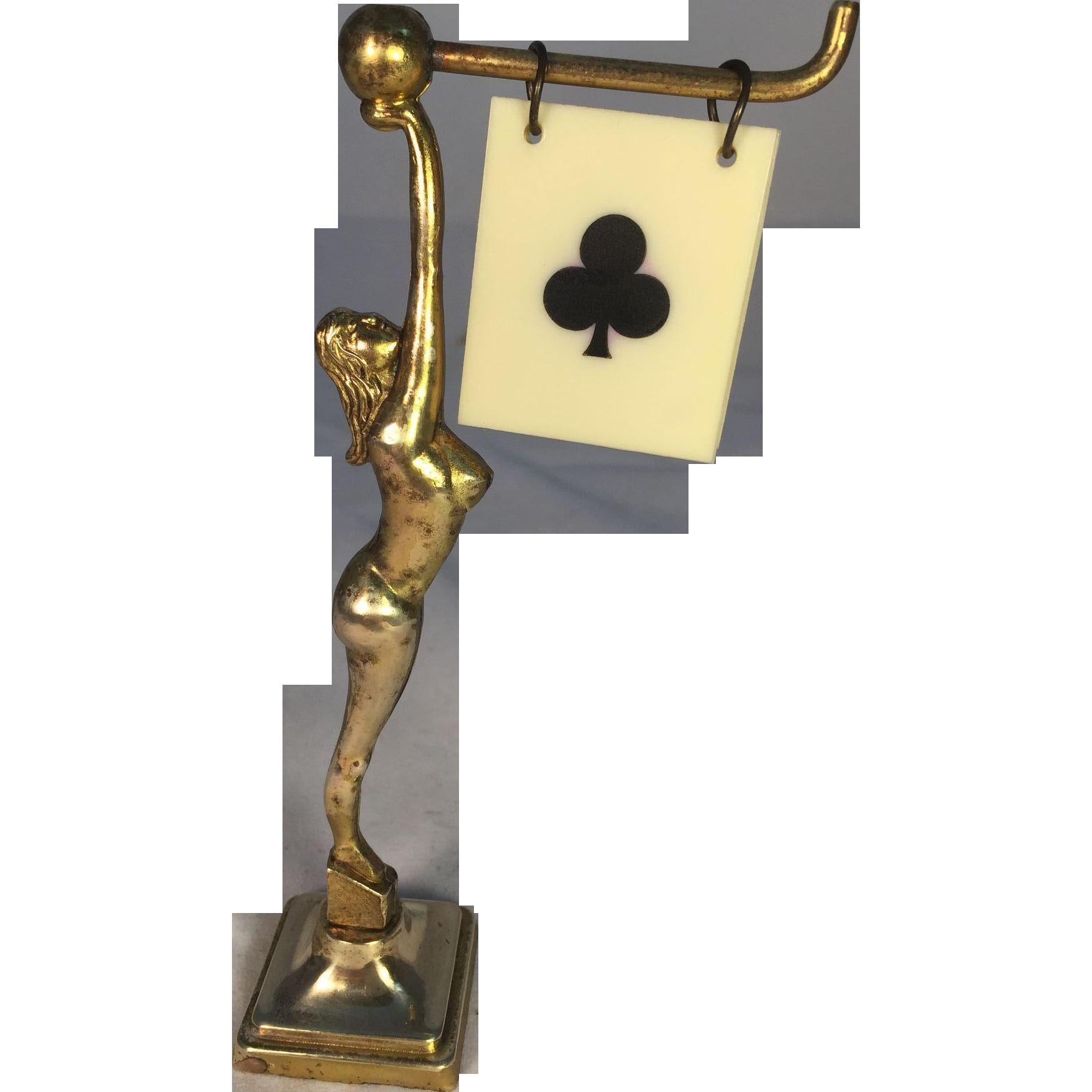 English Brass Lady Trump Marker