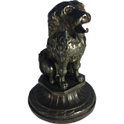PAINTED METAL Dog Pocket Watch Holder