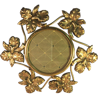 Art Nouveau Brass Flower Frame