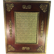 French Wood and Brass Frame