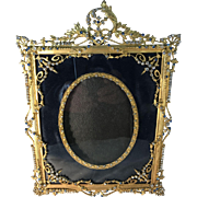 Napoleon III French Frame with Austrian Crystals