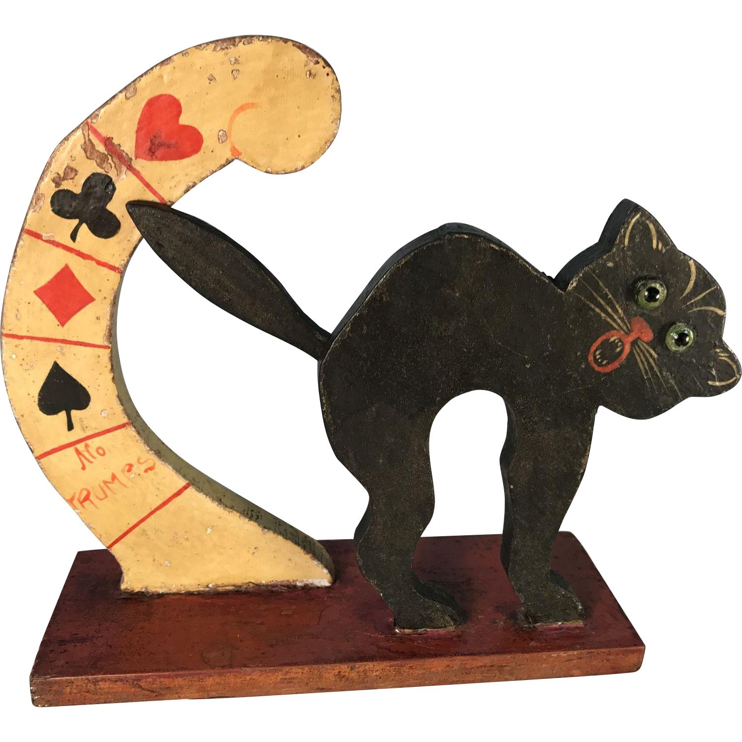 Wooden Black Cat Bridge Trump Marker