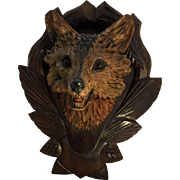 Black Forest Fox Head on Plaque