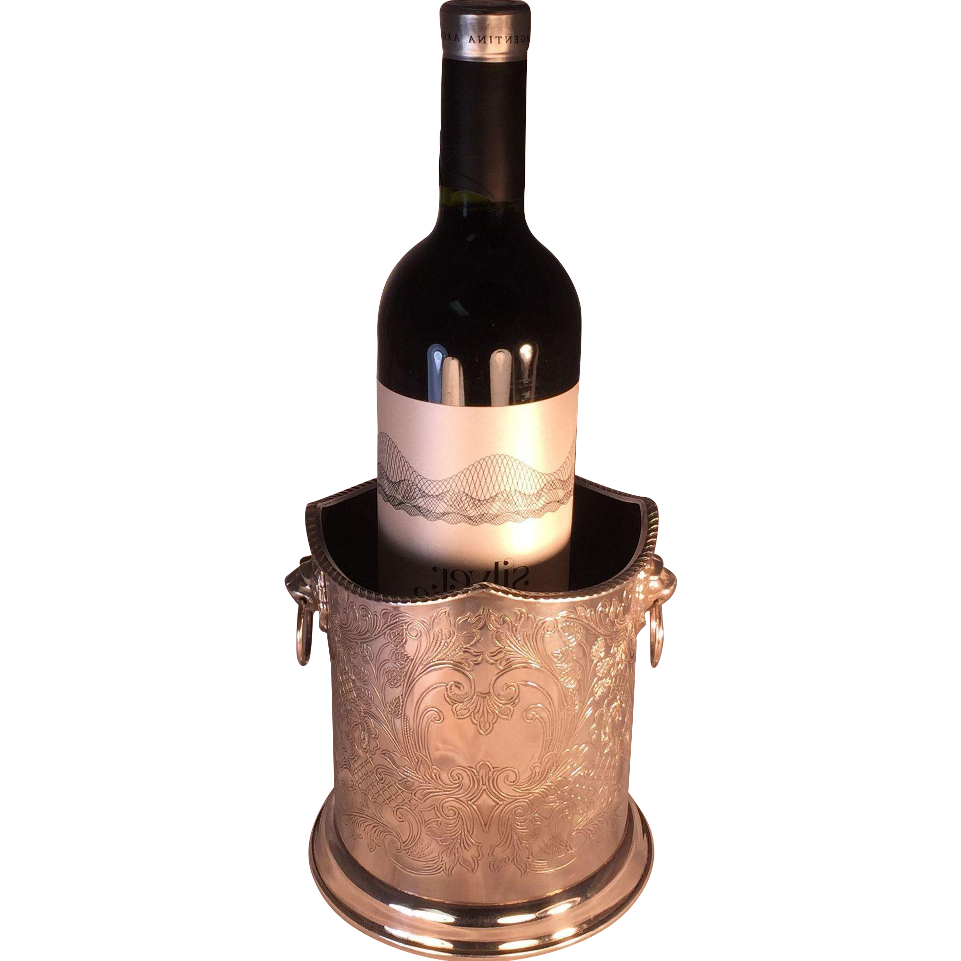 English Silver Plate Wine Sleeve
