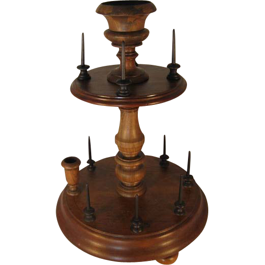 English Walnut Bobbin Stand