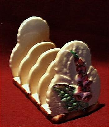 Carlton Ware Five Bar Yellow Toast Rack - Foxglove.