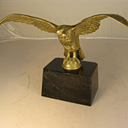 Brass Eagle on Marble Stand Pocket Watch Holder - Red Tag Sale Item