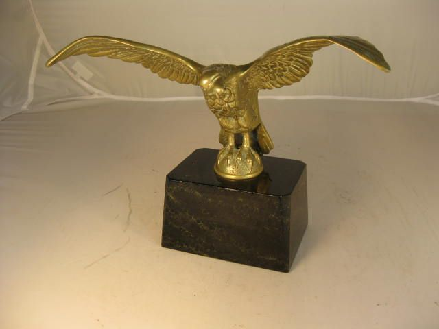 Brass Eagle on Marble Stand Pocket Watch Holder