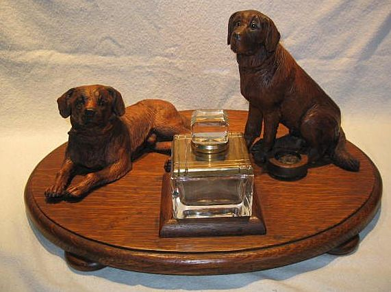 Black Forest Swiss Mountain Dog Inkstand / Inkwell