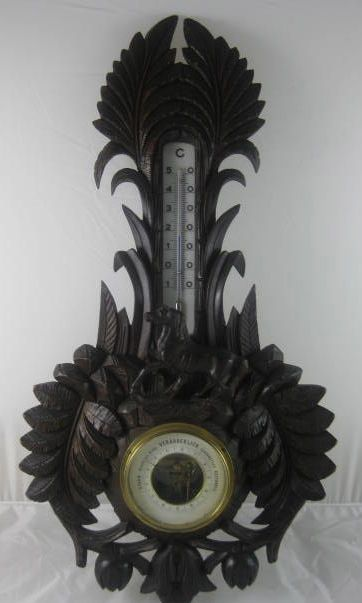 Black Forest Barometer with Horse Decoration