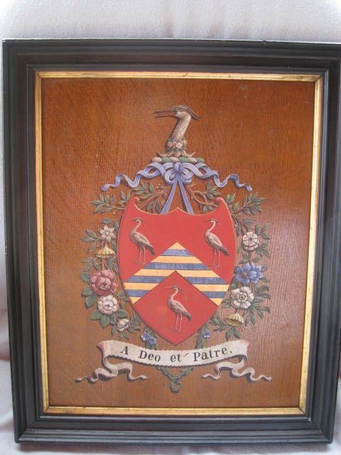 Hand Painted Heraldic Crest