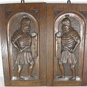 Pair of Heraldic Plaques