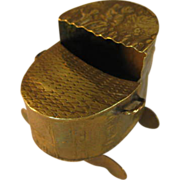 Dutch Brass Miniature Cradle