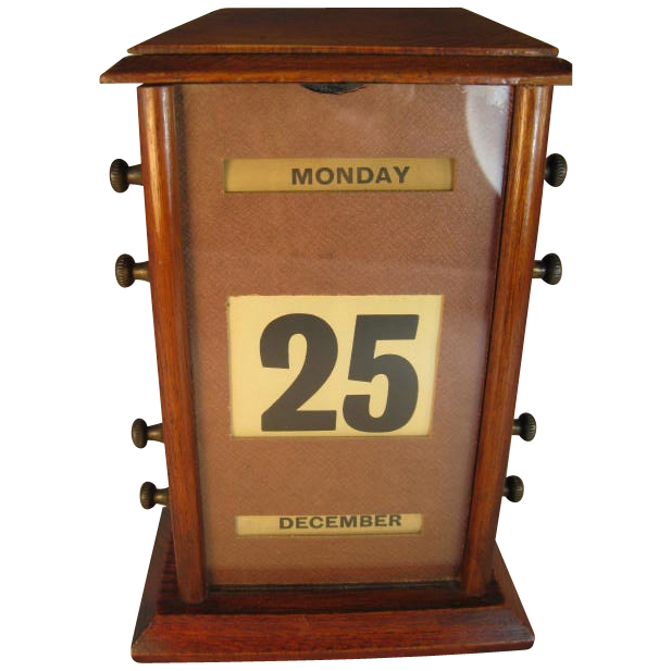 English Mahogany Perpetual Calendar