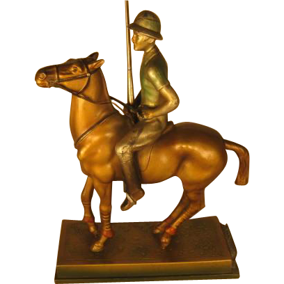 Edwardian Lighter and Striker - Polo Player